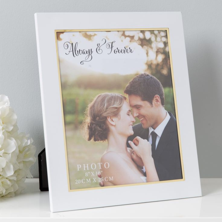 "8"" x 10"" - Always & Forever White Aluminium Photo Frame product image"