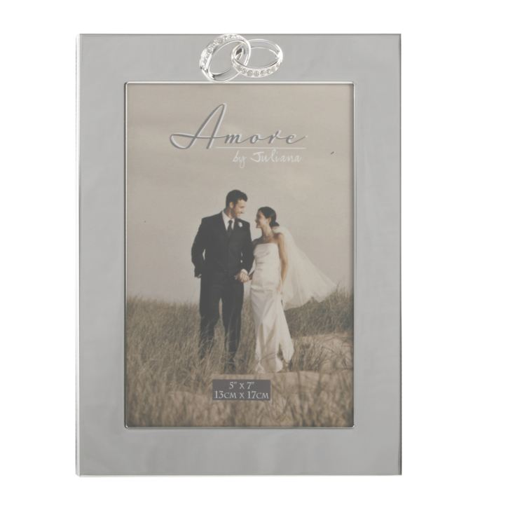 "5"" x 7"" - AMORE BY JULIANA® Silver Plated Photo Frame product image"