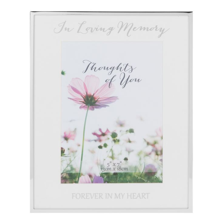"5"" x 7"" - Silver Plated Photo Frame - In Loving Memory product image"
