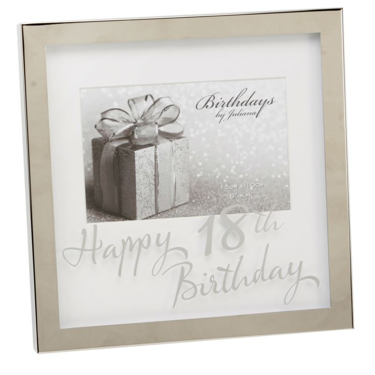 "6"" x 4"" - Birthdays by Juliana Silverplated Box Frame - 18th product image"