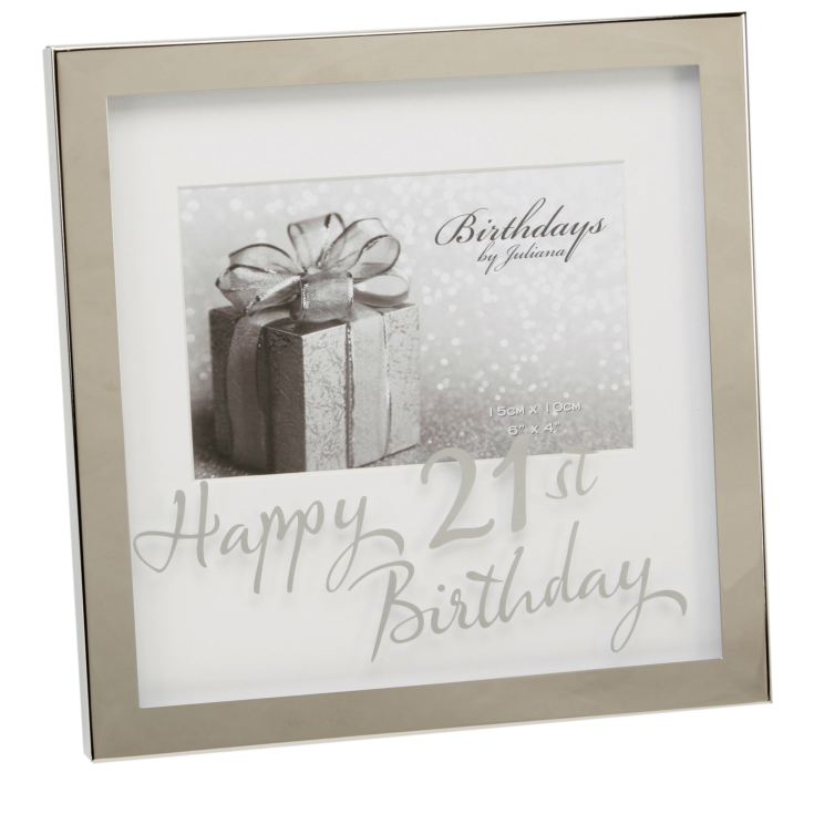"6"" x 4"" - Birthdays by Juliana Silverplated Box Frame - 21st product image"