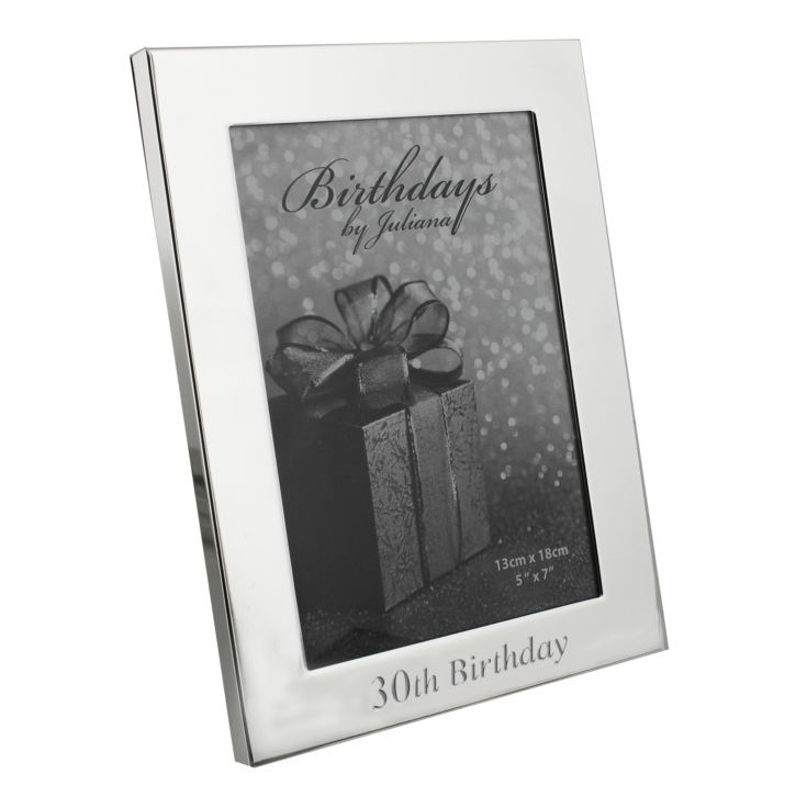 "5"" x 7"" - Birthdays by Juliana Silverplated Photo Frame - 30 product image"
