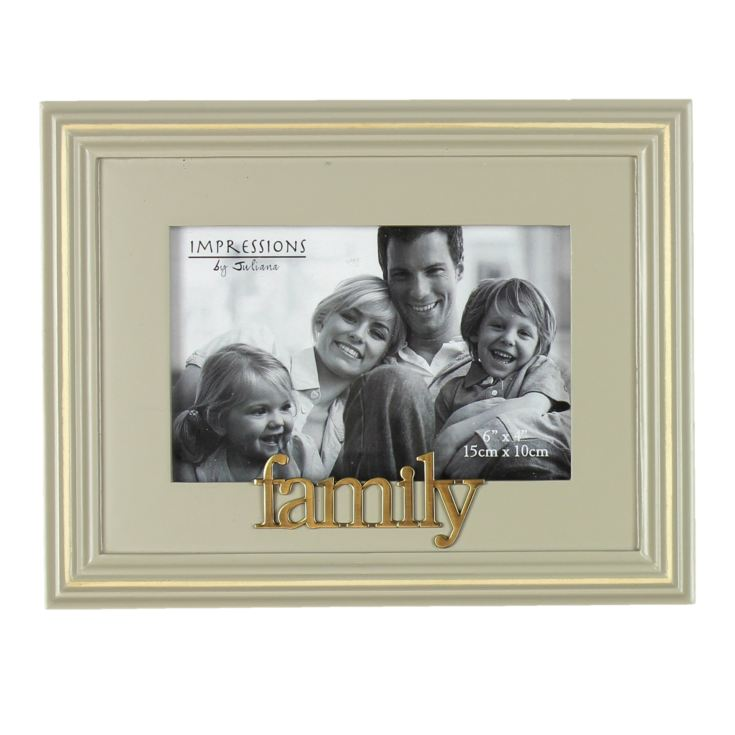 "6"" x 4"" - Celebrations Grey Wooden Photo Frame - Family product image"