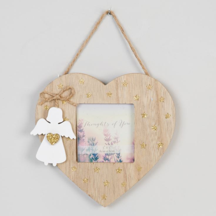 "3"" x 3"" - Thoughts of You Hanging Heart Frame with Angel product image"
