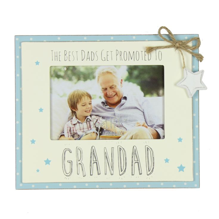"6"" x 4"" - Love Life Photo Frame - Promoted to Grandad product image"