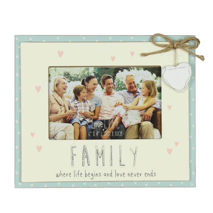 "6"" x 4"" - Love Life Photo Frame - Family product image"