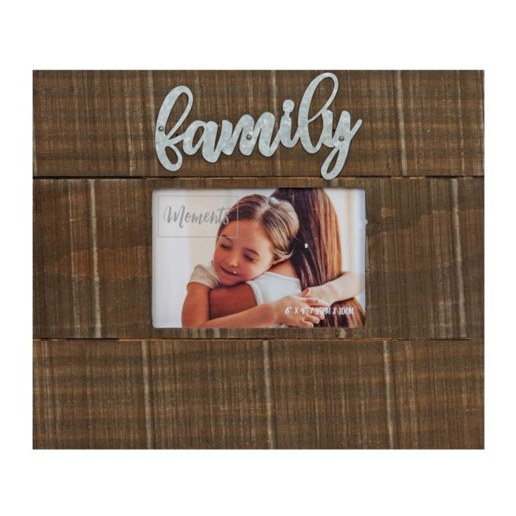 "4"" x 6"" - Moments Natural Finish Wooden Frame - Family product image"