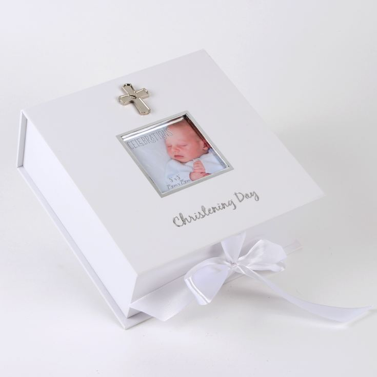 White & Silver Icon Christening Day Keepsake Box product image