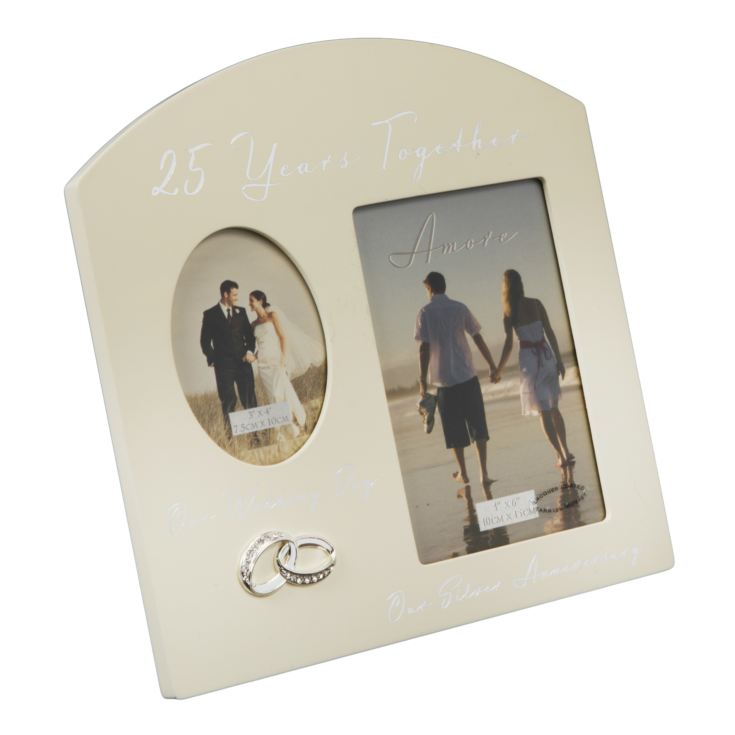 AMORE BY JULIANA® Double Anniversary Frame - 25 Years product image