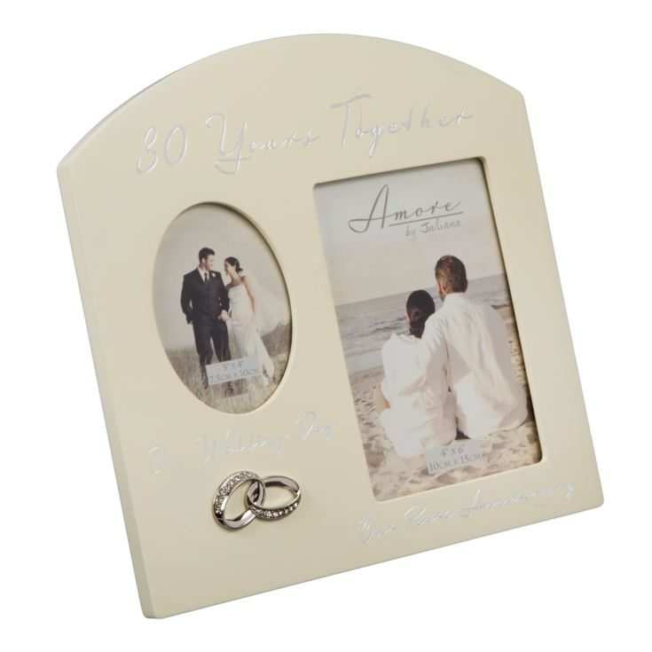 AMORE BY JULIANA® Double Anniversary Frame - 30 Years product image