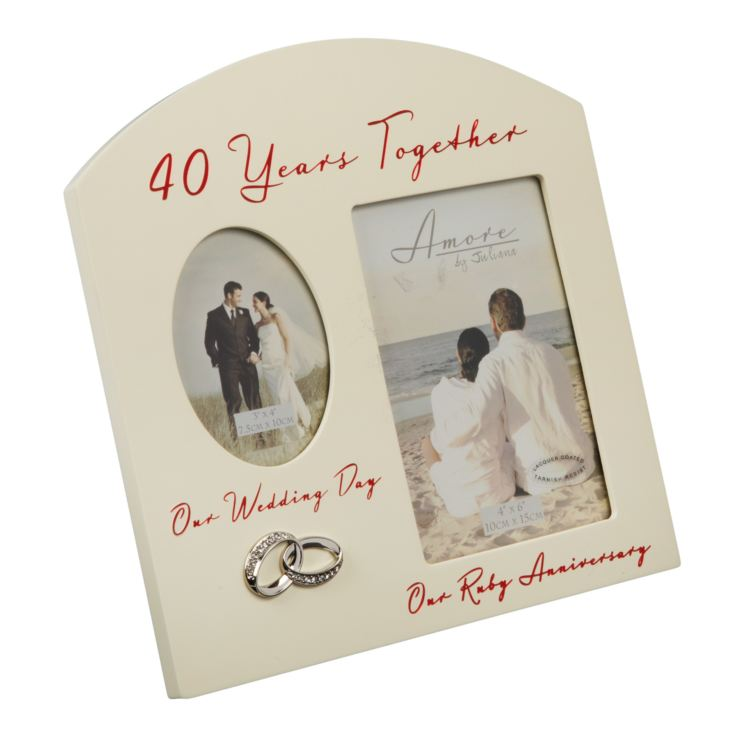 Amore Double Aperture Ruby Anniversary Frame - 40 Years product image