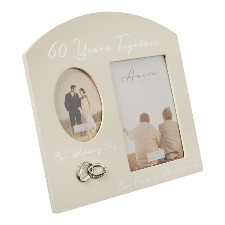 AMORE BY JULIANA® Double Anniversary Frame - 60 Years product image