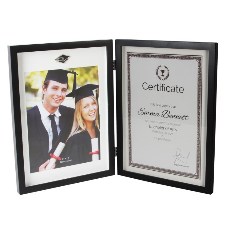 "8"" x 10""- Graduation Hinged Photo Frame & Certificate Holder product image"