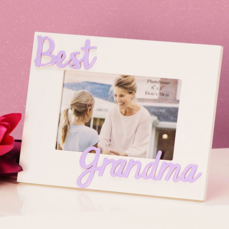 "6"" x 4"" - Photo Frame 3D Letters - Best Grandma product image"
