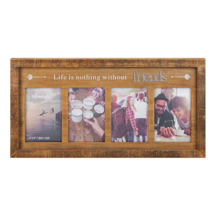 "4"" x 6"" - Moments Natural Wood Multi Frame - Friends product image"