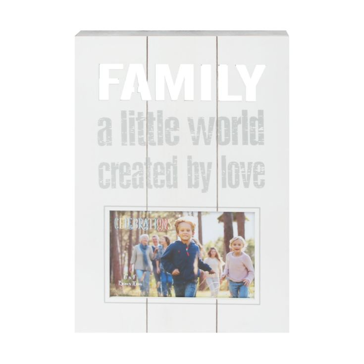 "6"" x 4"" - Celebrations Panel Photo Frame - Family product image"