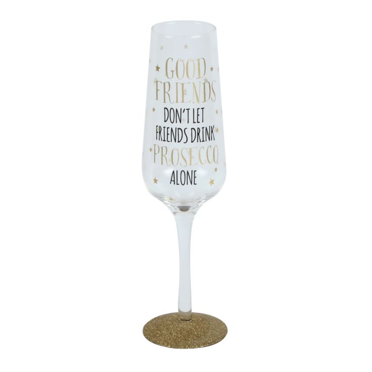 Signography Sparkling Flute Glass - Good Friends & Prosecco product image