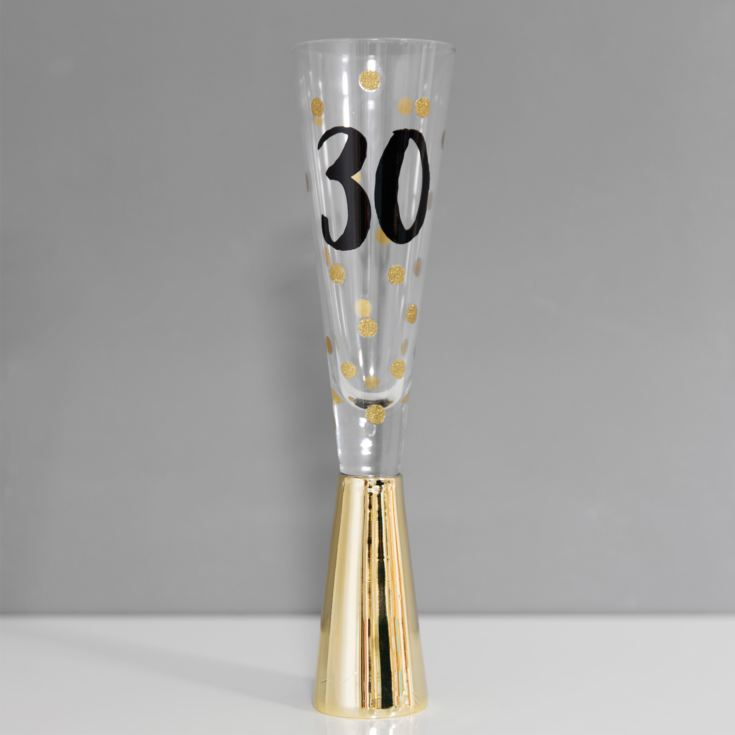 Signography Prosecco Glass with Metallic Gold - 30 product image