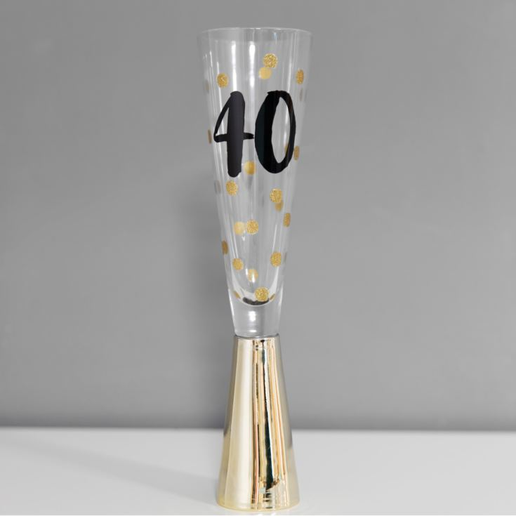 Signography Prosecco Glass with Metallic Gold - 40 product image