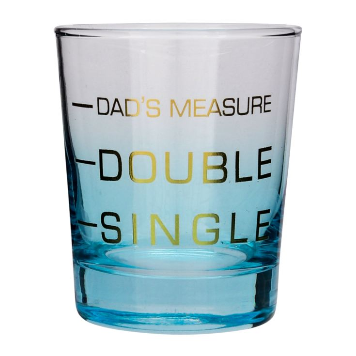 Printed Dad's Measure Whiskey Glass product image