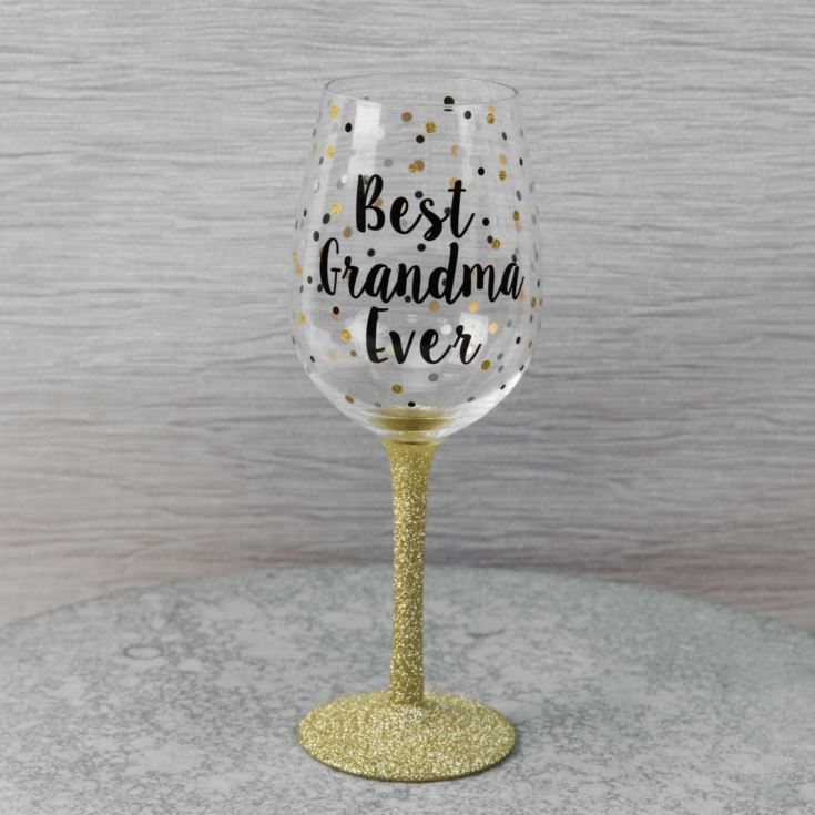 Celebrations Wine Glass - Best Grandma Ever product image