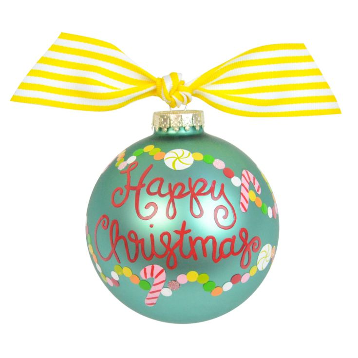 Coton Colors Blue Bauble with Sweets 10cm Happy Christmas product image