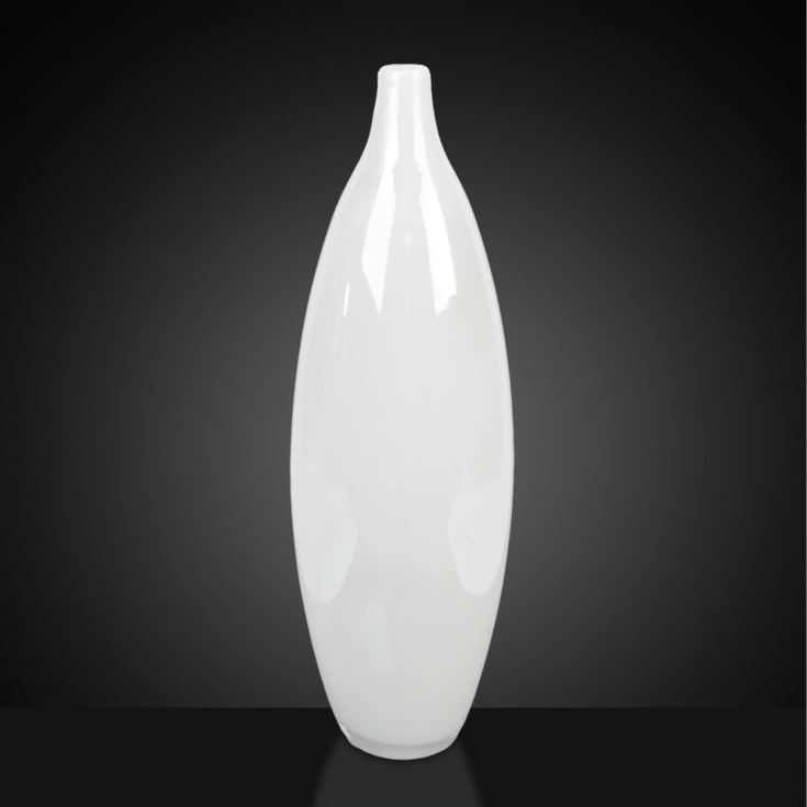 Objets d'Art Glass Vase - White Pearlescent 51cm product image