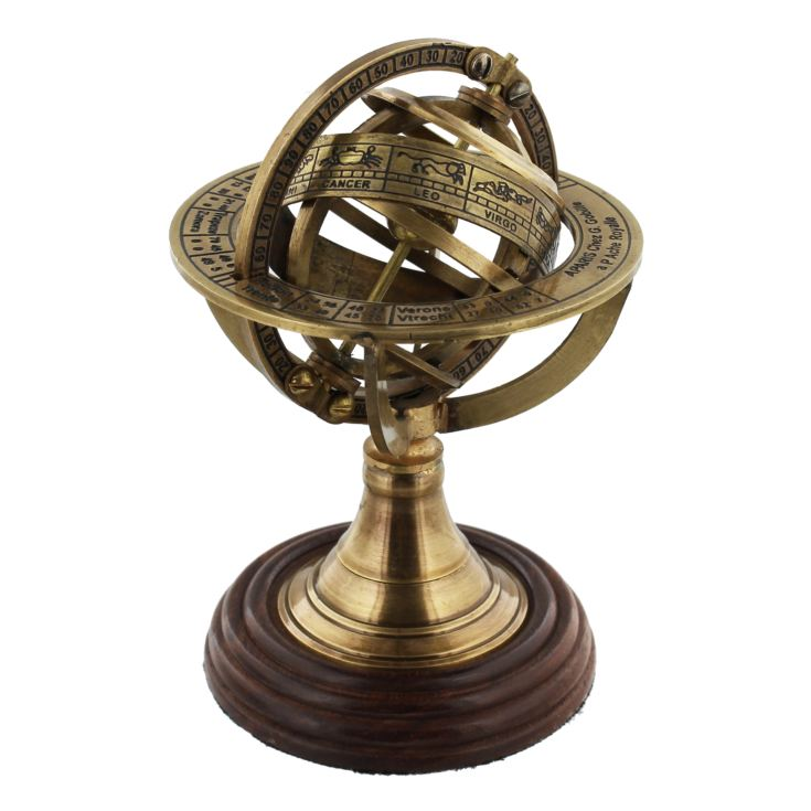 Emporium Collection Brass Armillary Sphere on Wooden Stand product image