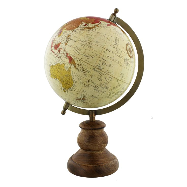 Emporium Globe with Metal & Wooden Base 20cm product image