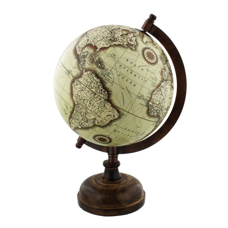 Emporium Collection Globe with Metal & Wooden Base 27cm product image