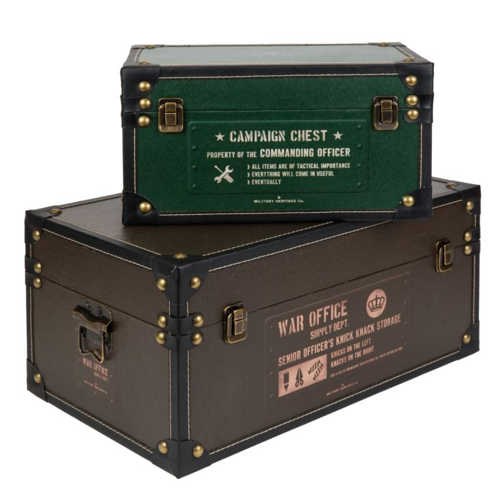 Military Heritage Set of 2 Storage Boxes product image
