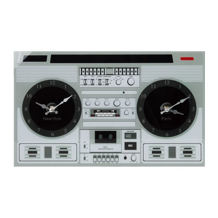 Musicology Glass Wall Clock - Radio product image