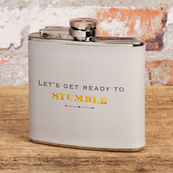 Emporium 5oz Hip Flask - Lets Get Ready To Stumble product image