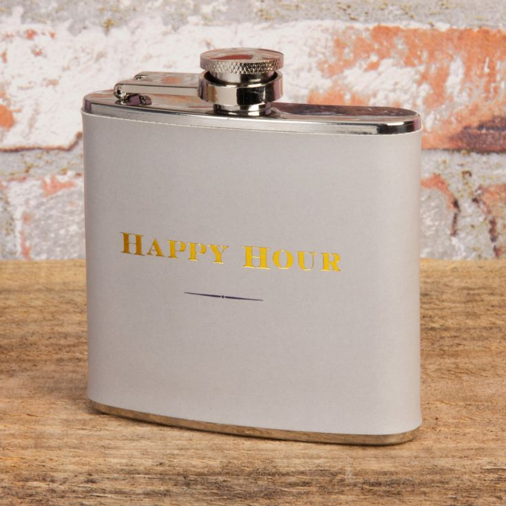 Emporium 5oz Hip Flask - Happy Hour product image