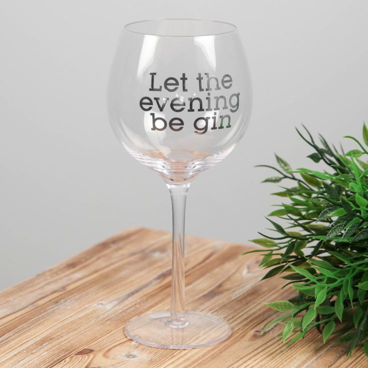 Let The Evening Be Gin - Gin Glass product image