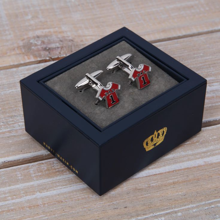 Harvey Makin Red Shirt 'Dad' Cufflinks product image
