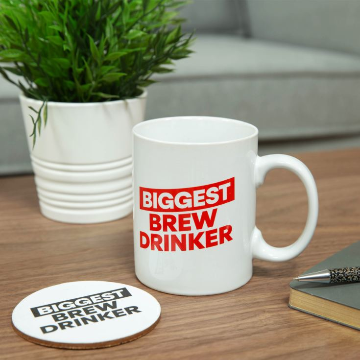 Ministry of Humour Oversized Mug & Coaster - Biggest Brew product image