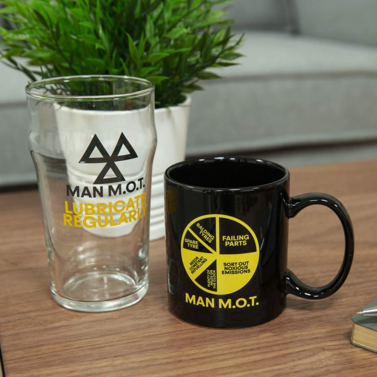 Ministry of Humour Mug & Beer Glass - Man M.O.T. product image