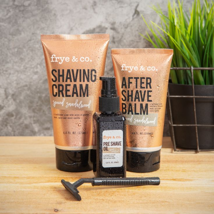 Shaving Set - Razor, Oil, Shaving Cream, After Shave Balm product image