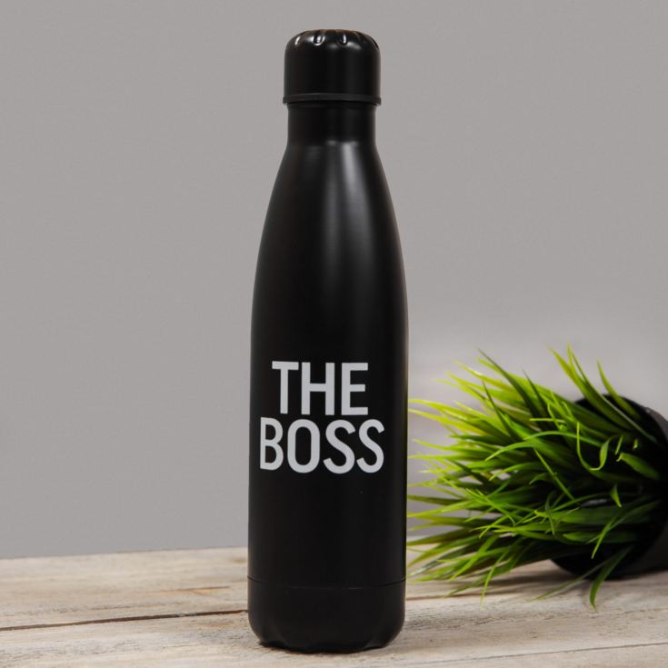 Double Lined Aluminium Drinks Bottle - The Boss product image