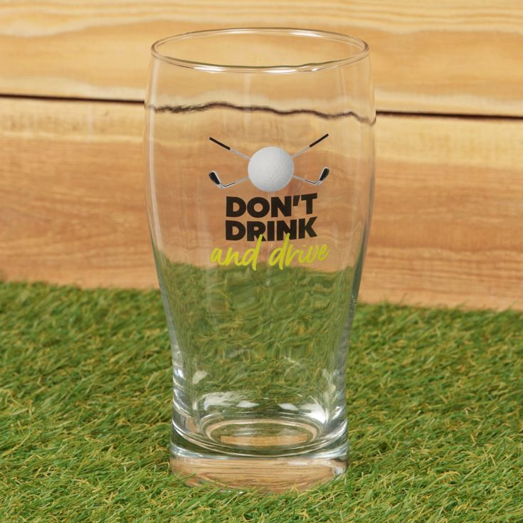 Armchair Supporters Society Pint Glass - Don't Drink & Drive product image