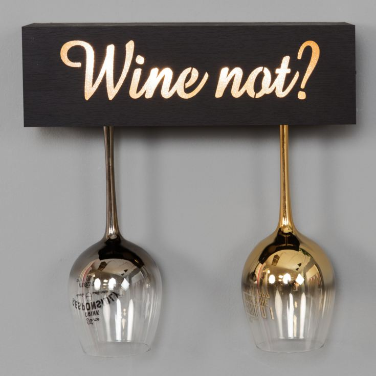 Brewmaster Wine Not Light Up Wine Glass Holder product image