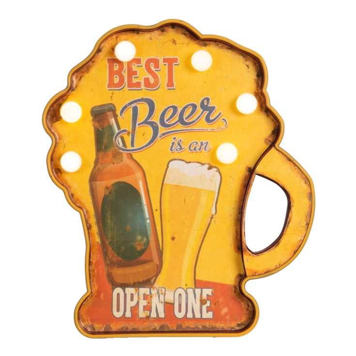 Brewmaster LED Marquee Light - Best Beer is an Open One product image