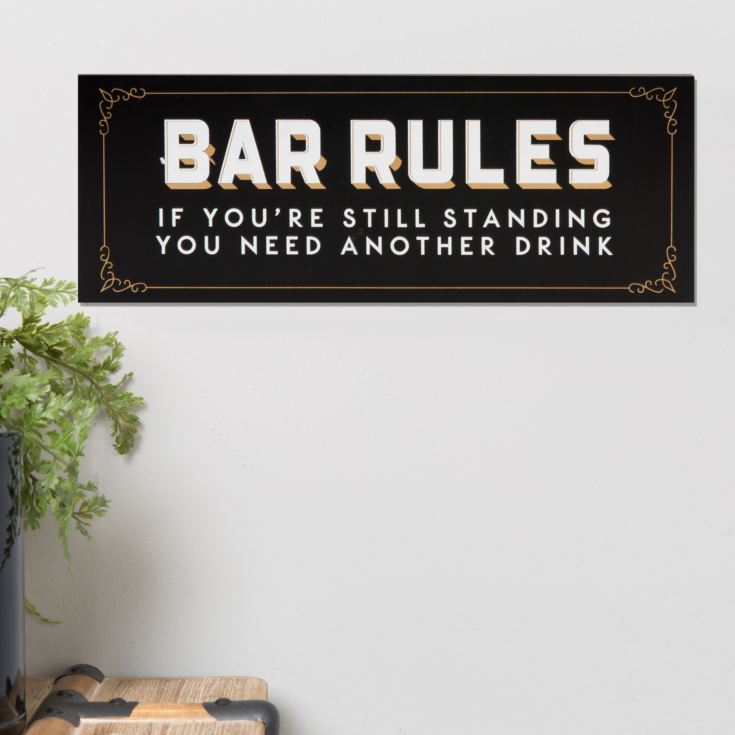 Brewmaster Hanging Plaque - Bar Rules product image