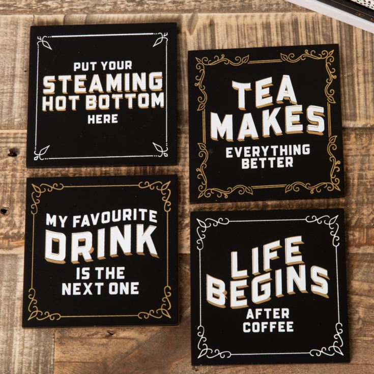 Set of 4 Brewmaster Coasters - Hot Brew product image