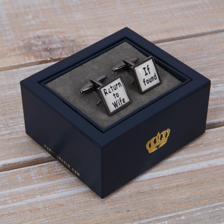 Harvey Makin Cufflinks - If Found Return to Wife product image