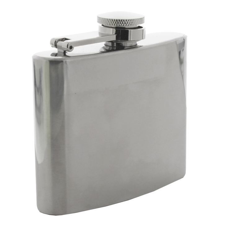 Harvey Makin Hip Flask - Plain Silver product image
