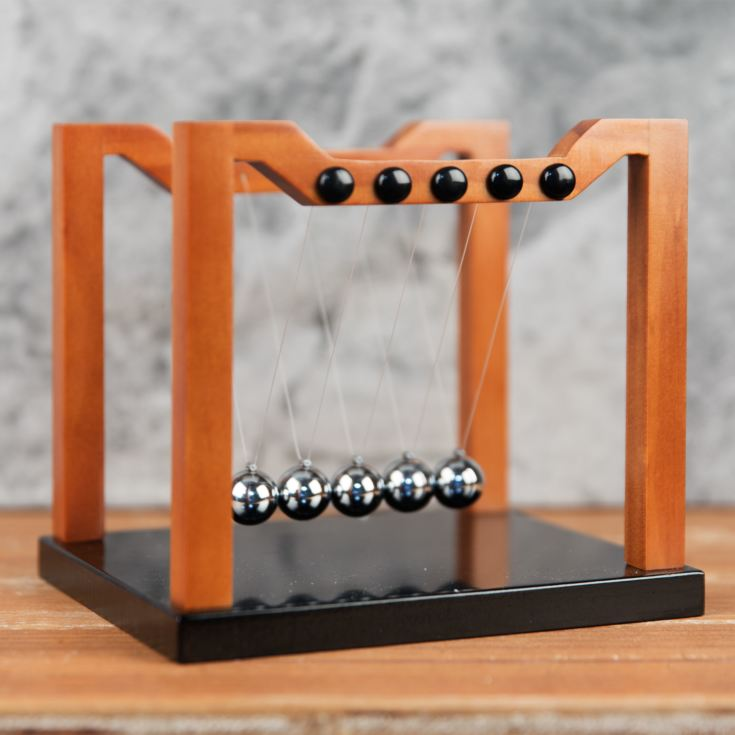 Harvey Makin Collection - Wood Effect Newtons Cradle 16x18cm product image