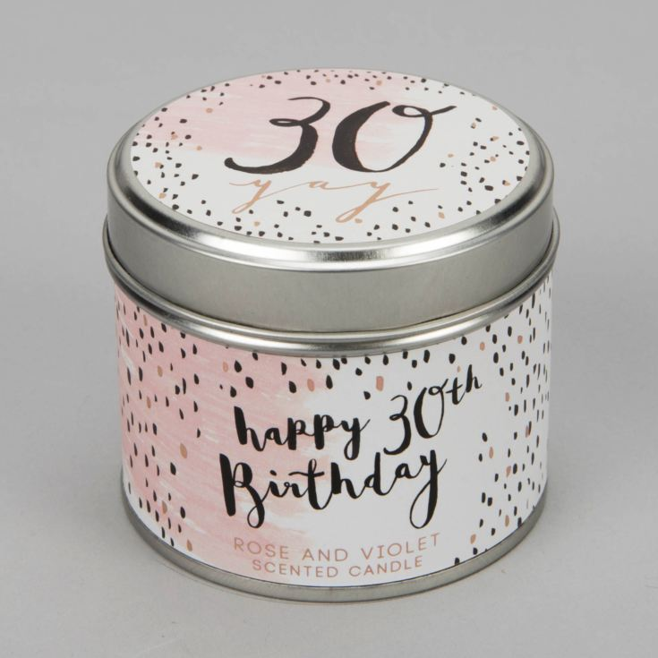 Luxe Candle in a Tin - 30th Birthday product image