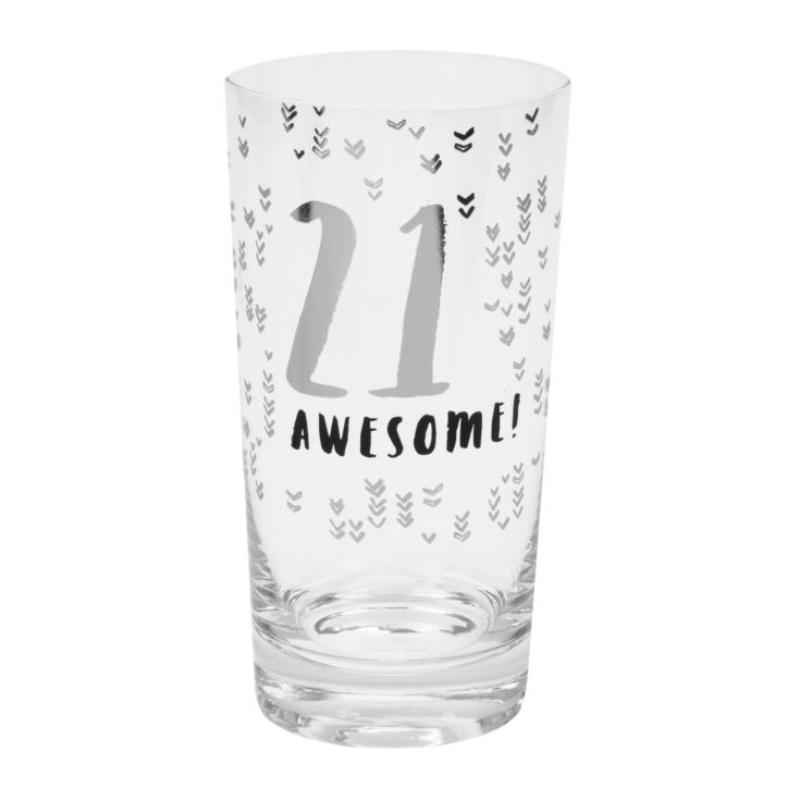 Luxe Gunmetal Beer Glass - 21st Birthday product image